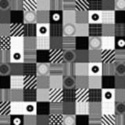 Bw Pop Pattern Art Print