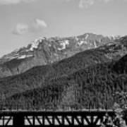 Bw Rail Alaska  Art Print