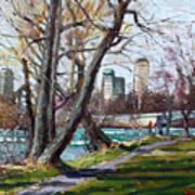By Niagara River Art Print