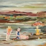By The Beach Art Print