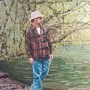 By The Lake - Self Portrait Art Print