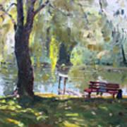 By The Lake  Art Print