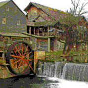 By The Old Mill Stream Art Print by Larry Bishop