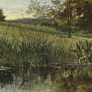 By The Riverbank, 1869 Art Print