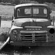 Bygone Dodge In Black And White Art Print