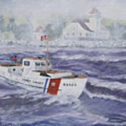 C G 40300 At Coast Guard Station Plum Island Art Print