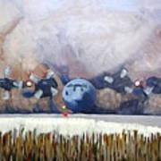 C130 Landing In Alaska Art Print
