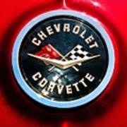 C2 Corvette Logo Art Print