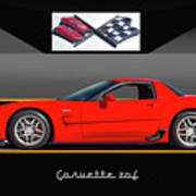 C5 Corvette Zo6 'profile' I Art Print