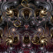 Cabalistic Symmetry Of Q Art Print
