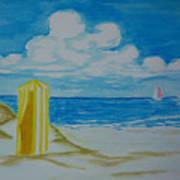 Cabana On The Beach Art Print