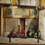 Cabildo De Arriba. Santander Art Print