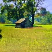 Cabin At Valley Forge Art Print