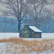 Cabin In The Snow - Valley Forge Art Print