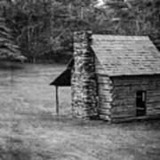 Cabin On The Blue Ridge Parkway - 5 Art Print