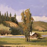 Cabin On The Kootenai Art Print