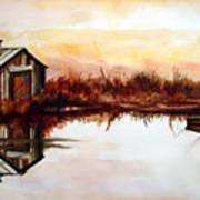 Cabin On The Lake Art Print