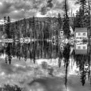 Cabin Reflection Art Print