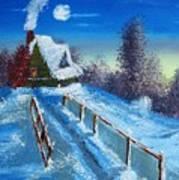 Cabin Retreat Art Print