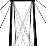 Cable Bridge Abstract Art Print