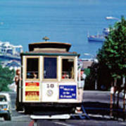 Cable Car 18 Heading Up The Hyde Street Line Art Print