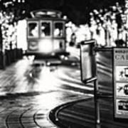 Cable Car Stop Blackout Art Print
