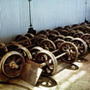 Cable Car Wheels, Repair Shop Art Print
