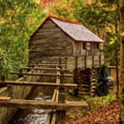 Cable Mill Cades Cove Smoky Mountains Tennessee In Autumn Art Print