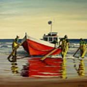 Cabo Polonio Fishing Art Print