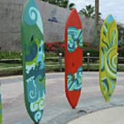 Cabo Surfboard Sculpture 1 Art Print