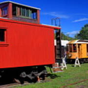 Caboose At Shelburne Trolley Museum Art Print