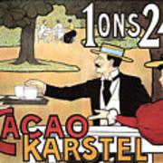 Cacao Karstel - Vintage Cacao Advertising Poster Art Print