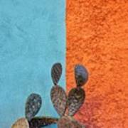 Cactus And Colorful Wall Art Print