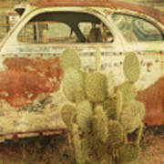 Cactus Car Art Print