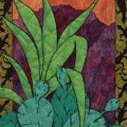 Cactus Lizards Art Print