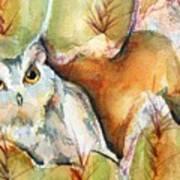 Cactus Owl Art Print