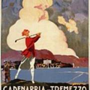 Cadenabbia Tremezzo, Golf And Tennis - Golf Club - Retro Travel Poster - Vintage Poster Art Print