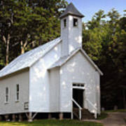 Cades Cove Baptist Church Art Print