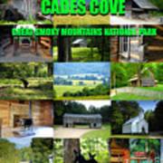 Cades Cove Collage Art Print