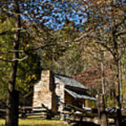 Cades Cove Early Settler Cabin  Art Print
