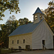 Cades Cove Methodist Church Aglow Art Print