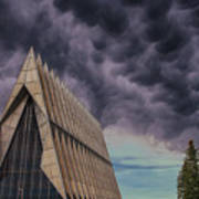 Cadet Chapel At The United States Air Force Academy Art Print