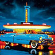 Cadillac Diner Print by MGL Studio - Chris Hiett