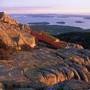 Cadillac Mountain At Sunrise Art Print