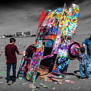 Cadillac Ranch Spray Paint Fun Along Historic Route 66 By Amarillo Texas Art Print