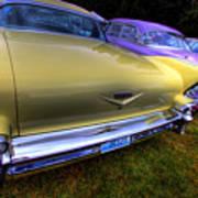 Cadillacs All In A Row Art Print
