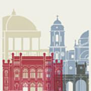 Cadiz Skyline Poster Art Print