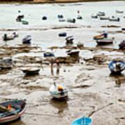 Cadiz Spain Low Tide Art Print