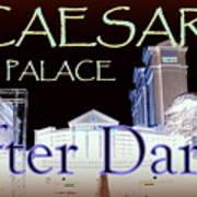 Caesars Palace After Dark Art Print