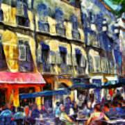 Cafe 2 Provence Art Print